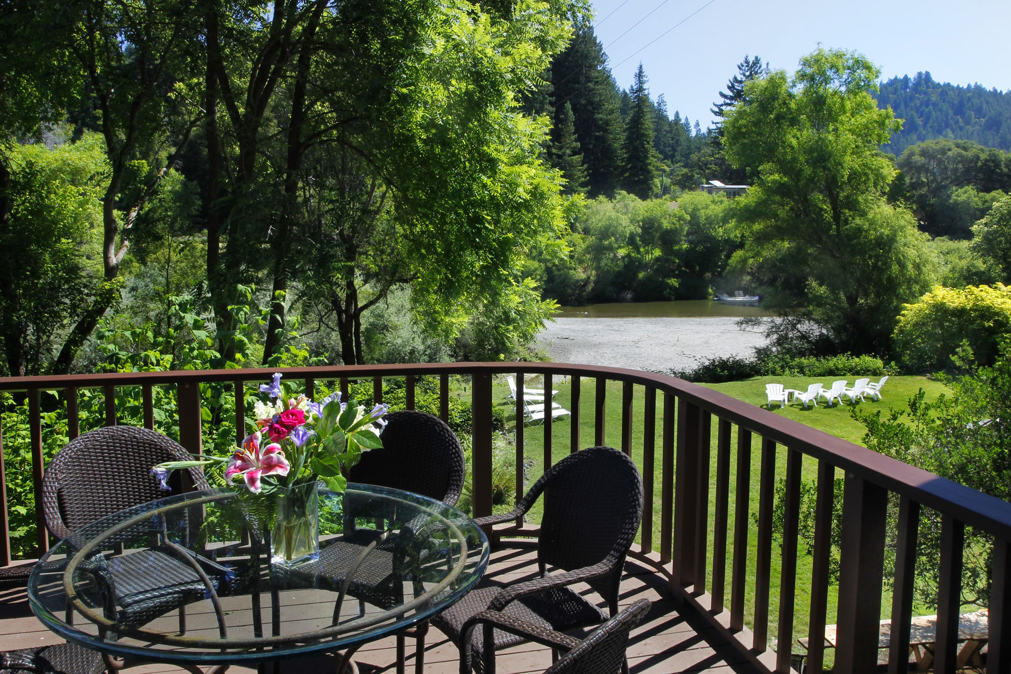 View from Deck to Russian River