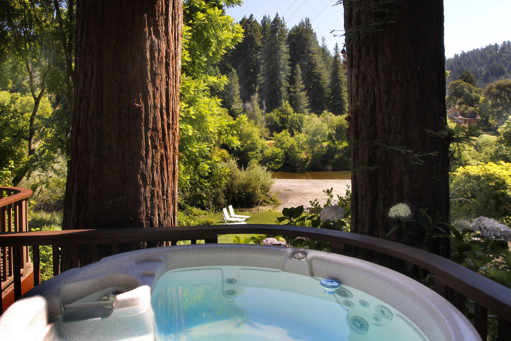 View from Hot Tub to Russian River